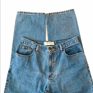 LL Bean Relaxed Fit High Rise Jeans Size 14
